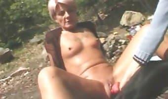 Truly hot zoophile slut enjoys brutal sex